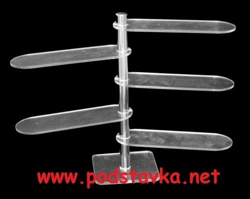 Подставка универсальная О-4 (овал) хром / оргстекло