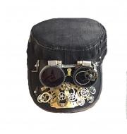 Кепки с очками Стимпанк. К-4