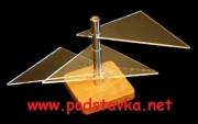 Подставка для очков О-4(3) хром/ МДФ