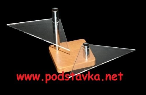 Подставка для очков О-4(2) хром/ МДФ