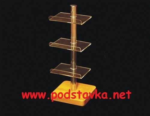 Подставка для футляров Ф-5 хром / МДФ