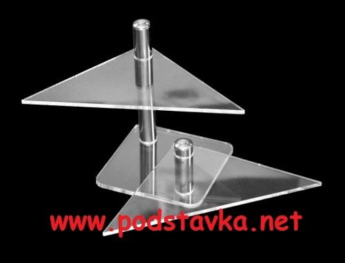 Подставка для очков О-4(2) хром/оргстекло