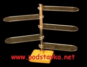 Подставка универсальная О-4 (овал) хром / МДФ