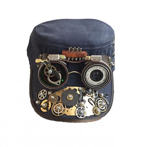 Кепки с очками Стимпанк. К-3