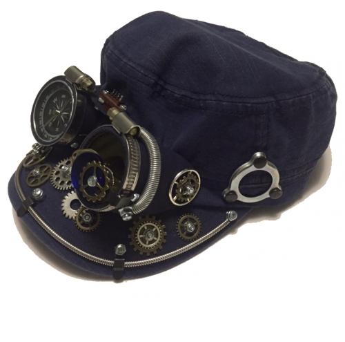 Кепки с очками Стимпанк. К-8