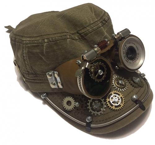 Кепки с очками Стимпанк. К-7