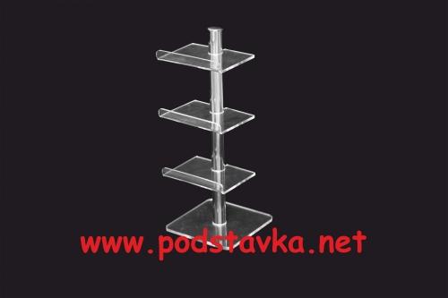 Подставка для футляров Ф-5 хром / оргстекло